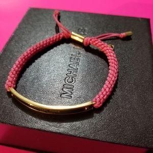 Michael Kors Heritage Pink cord bracelet